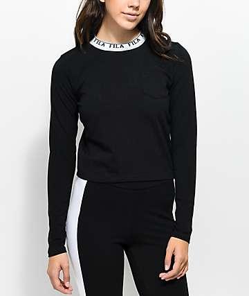 FILA Rebecca camiseta corta de manga larga en negro