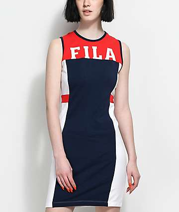 FILA Red, White & Blue Bodycon Dress