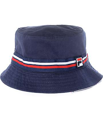 FILA Reversible Navy Bucket Hat