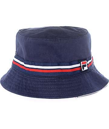 FILA Reversible Navy Bucket Hat