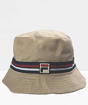 FILA Reversible Tan Bucket Hat