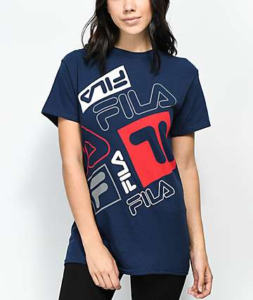 FILA Scrabble Navy T-Shirt
