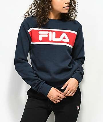 FILA Selena Navy Crew Neck Sweatshirt