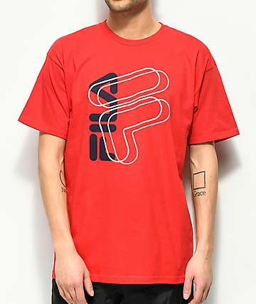 FILA Slant Red T-Shirt