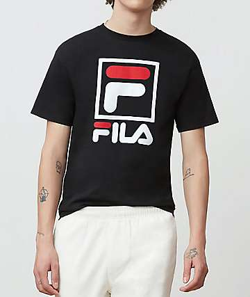 FILA Stacked Black T-Shirt