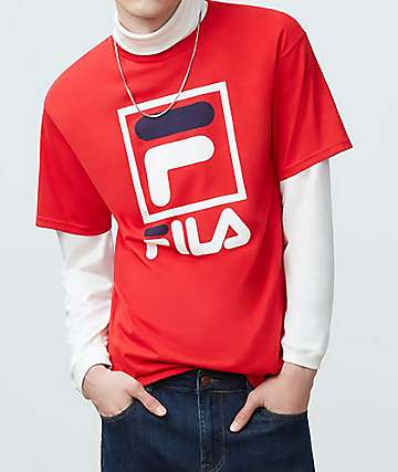 FILA Stacked Red T-Shirt