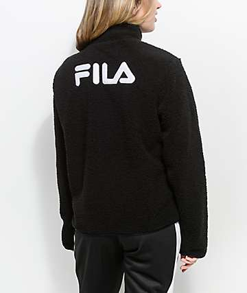 FILA Stevie Black Sherpa Jacket