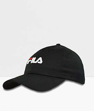 FILA Twill Black Strapback Hat