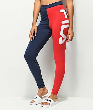 FILA Vita Blue & Red High Waisted Leggings