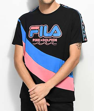 FILA x Pink Dolphin Heritage Black T-Shirt