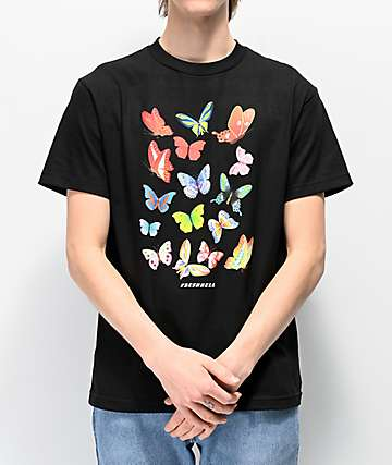 FRESHHELL Butterfly Baby Black T-Shirt