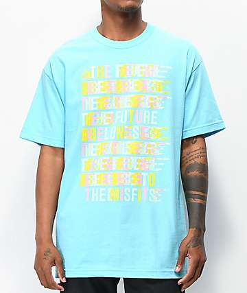 FYG Belongs To Misfits Blue T-Shirt