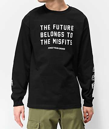 FYG Future Misfits Black Long Sleeve T-Shirt