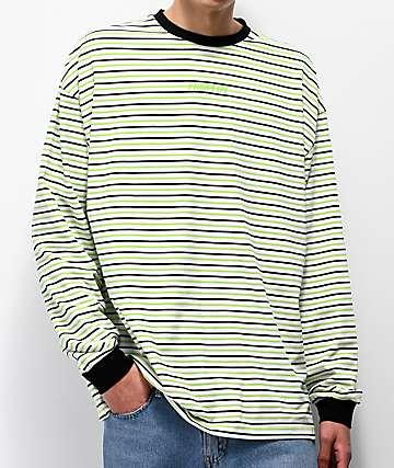 Fairplay Arden Green Striped Long Sleeve T-Shirt