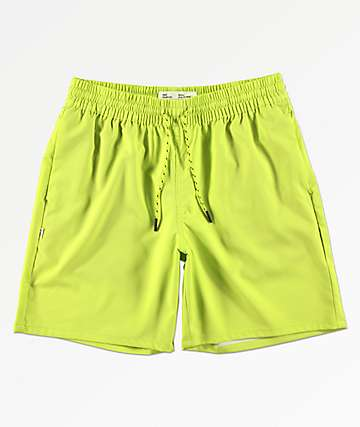 Fairplay Boardy Neon Green Board Shorts