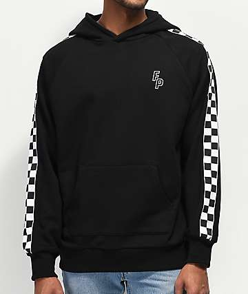 Fairplay Checker Taped Black Hoodie