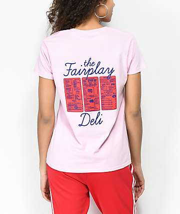 Fairplay Deli Menu Pink T-Shirt