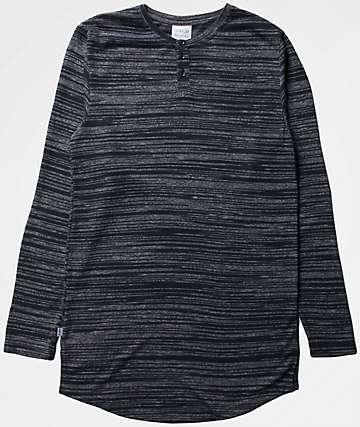 Fairplay Ellison Long Sleeve Henley Navy T-Shirt