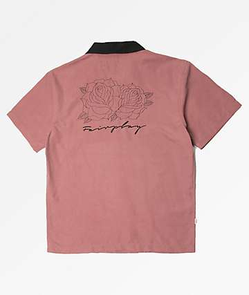 Fairplay Faruki Pink Short Sleeve Button Up Shirt