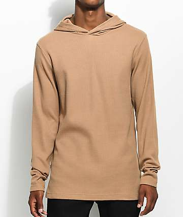 Fairplay Lawnson Thermal Tan Hoodie