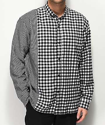 Fairplay Merillion Mixed Black & White Flannel Shirt