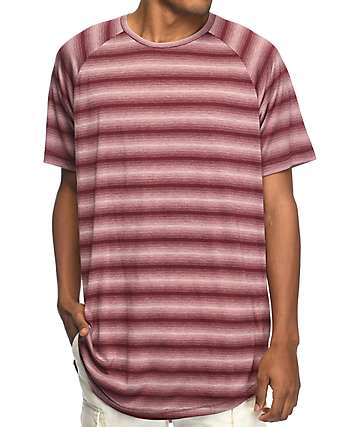 Fairplay Packer Maroon Striped T-Shirt