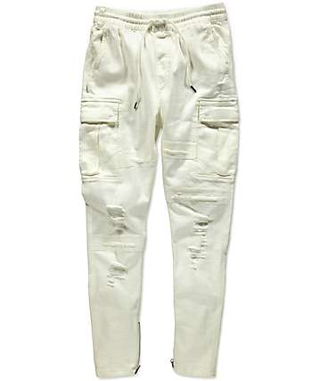 Fairplay Quincy White Cargo Pants