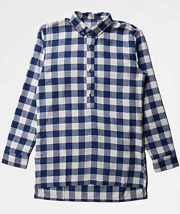 Fairplay Remi Long Sleeve Navy Flannel Shirt