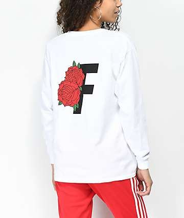 Fairplay Rose White Long Sleeve T-Shirt
