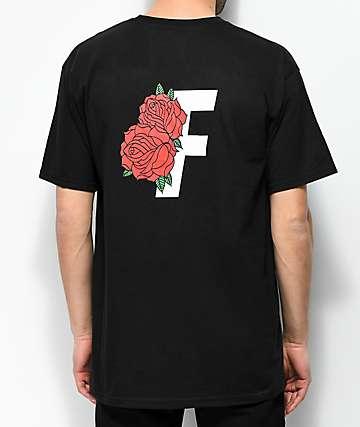 Fairplay Roses Black T-Shirt