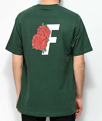 Fairplay Roses Forest Green T-Shirt