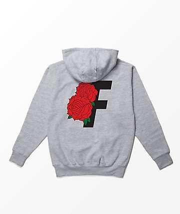 Fairplay Roses Heather Grey Hoodie