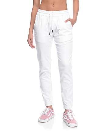 Fairplay Runner White Jogger Pants