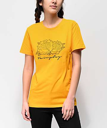 Fairplay Script Roses Gold T-Shirt