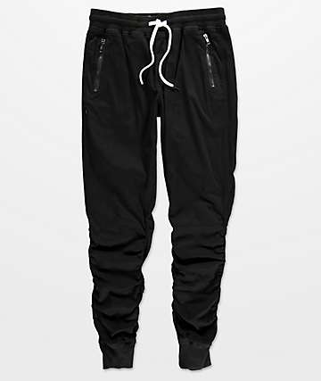 Fairplay Willem Scrunch Black Jogger Pants