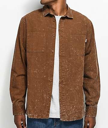 Fairplay Woodson Rust camisa de corte cuadrado