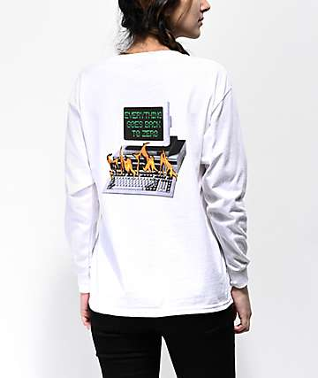Fairplay Y2K White Long Sleeve T-Shirt