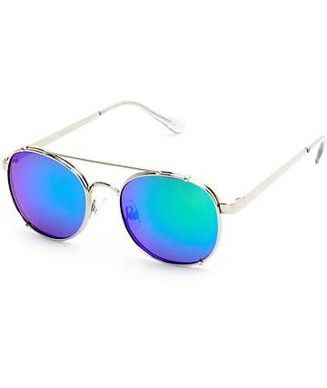 Fiasco Silver T-Bar Rounded Sunglasses