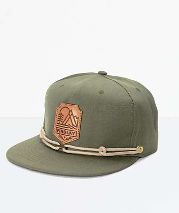 Findlay Crown Point Olive Snapback Hat