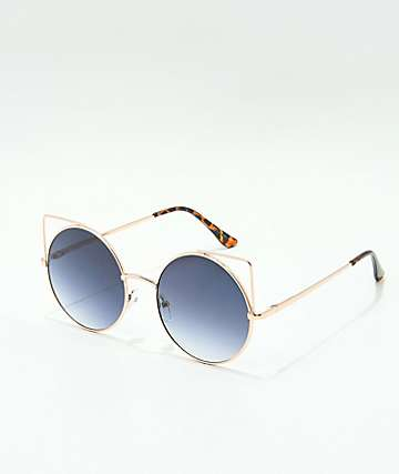 Flat Kitty Rose Gold Sunglasses