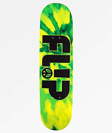 Flip Odyssey Peace Green Skateboard Deck
