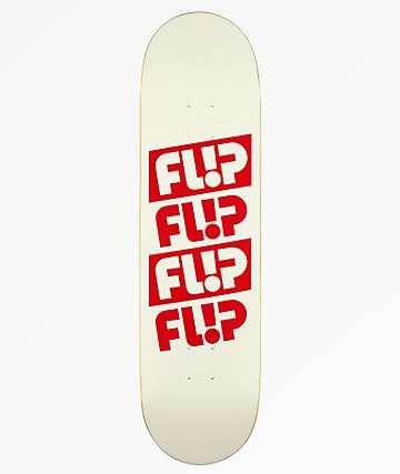 "Flip Odyssey Quatro 8.38"" tabla de skate blanca"