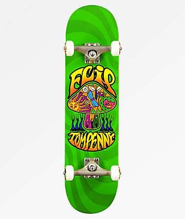 """Flip x Penny Love Shroom 8.0"""" tabla de skate verde."""