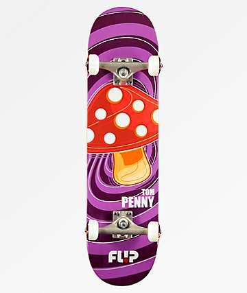 """Flip x Penny Pop Shroom 8.0"""" completo de skate morado"""