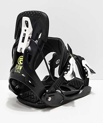 Flow Alpha Charcoal Snowboard Bindings 2019