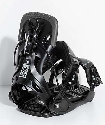 Flow Five Black Snowboard Bindings