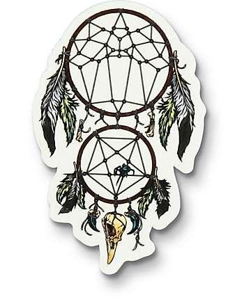 Flying Coffin Dream Catcher Sticker