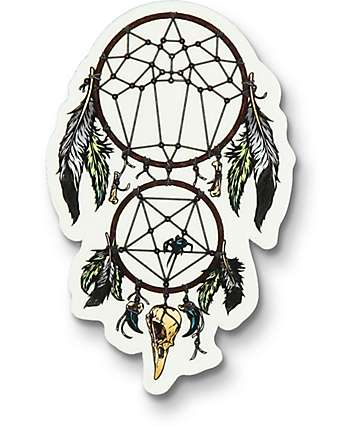 Flying Coffin Dream Catcher pegatina