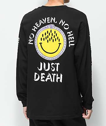 Flying Coffin Just Death Black Long Sleeve T-Shirt