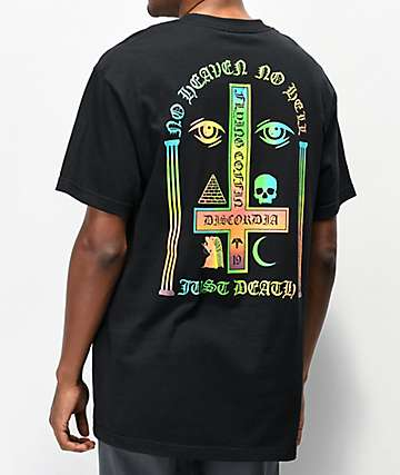 Flying Coffin Just Death Black T-Shirt